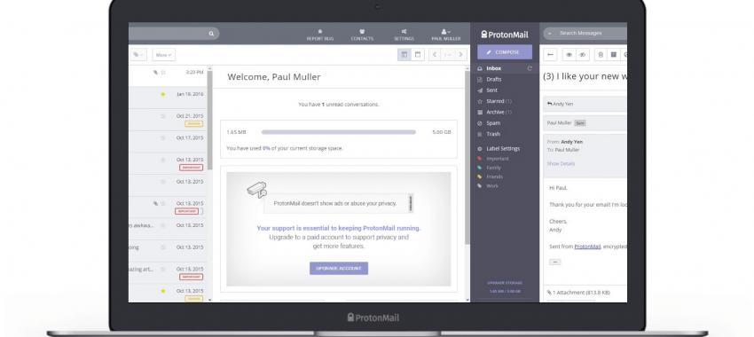 ProtonMail: service de courriel sécurisé